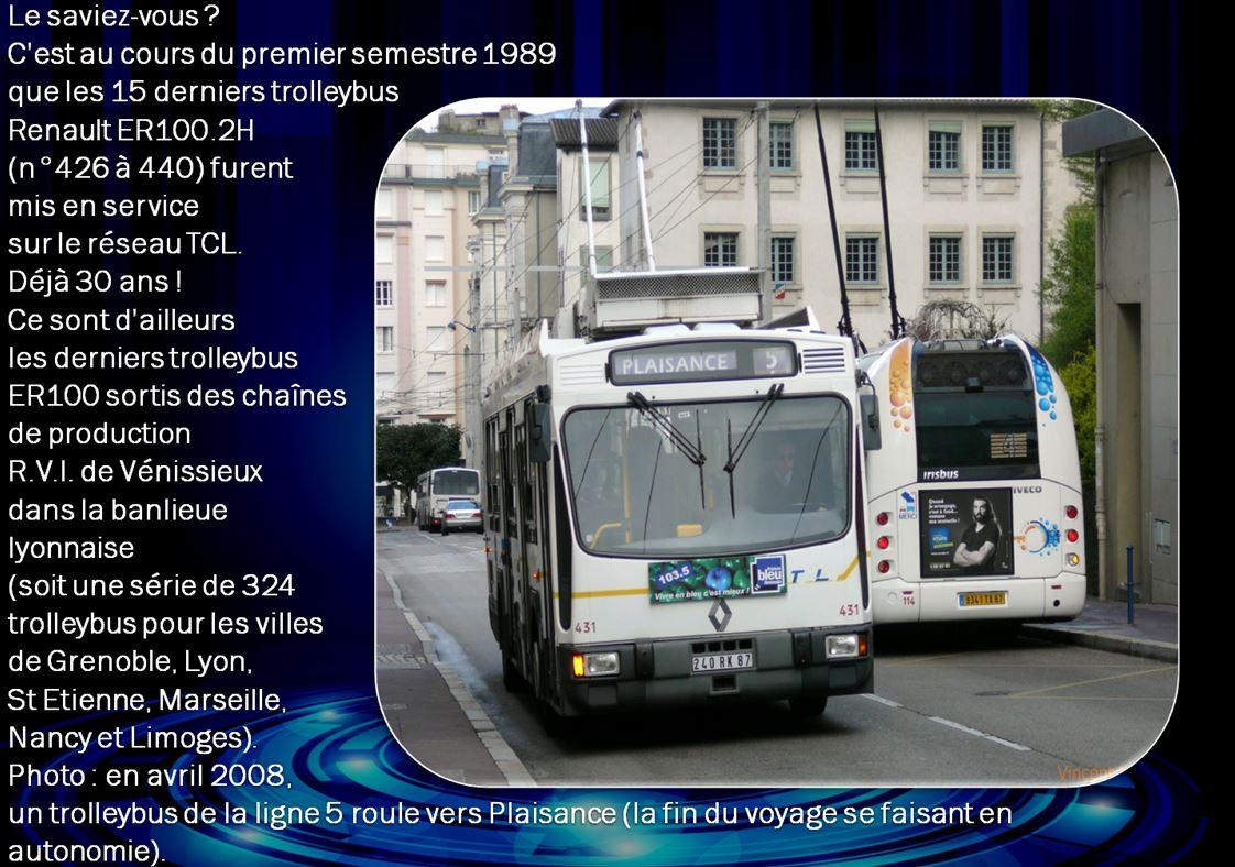 Les 15 derniers trolleybus Renault ER100.2H