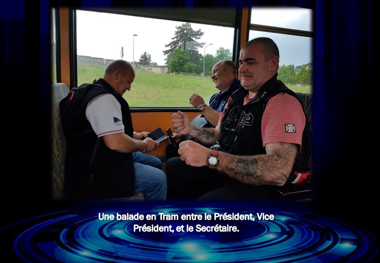 CPTCL se balade en Tram à Neuchâtel (Suisse).