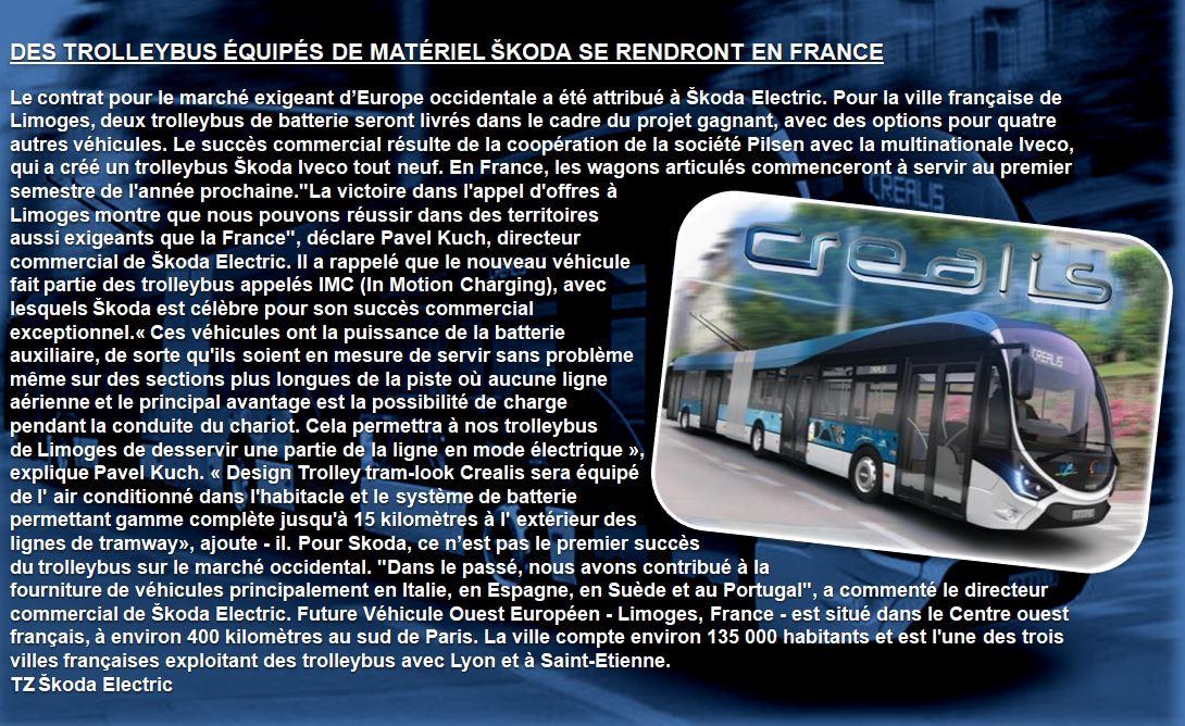 Voilà à quoi pourraient ressembler nos futurs trolleybus (Créalis)