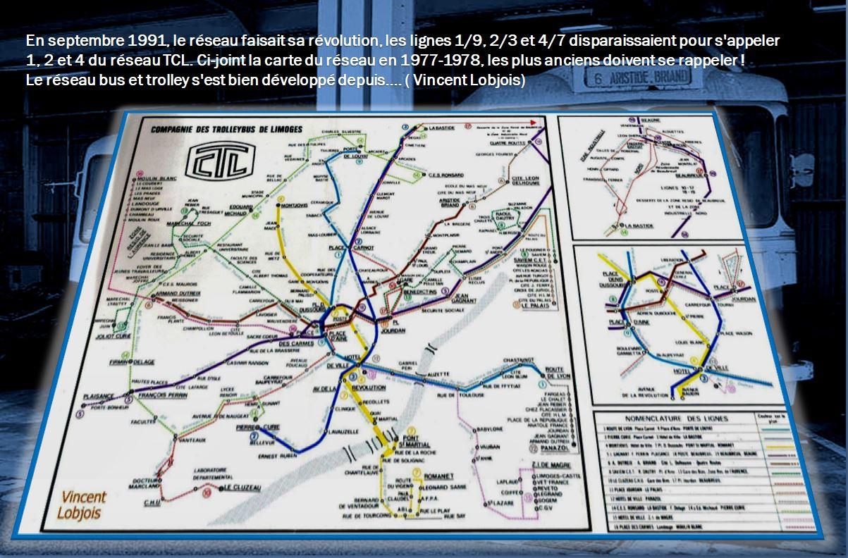 Plan du réseau 1977-78